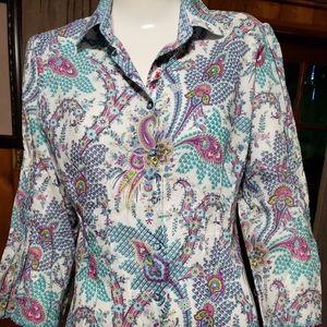 Robert Graham Floral Button up 3/4 sleeve